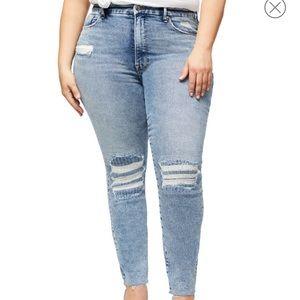 Good Curve High Waist Raw Hem Ankle Skinny Jeans